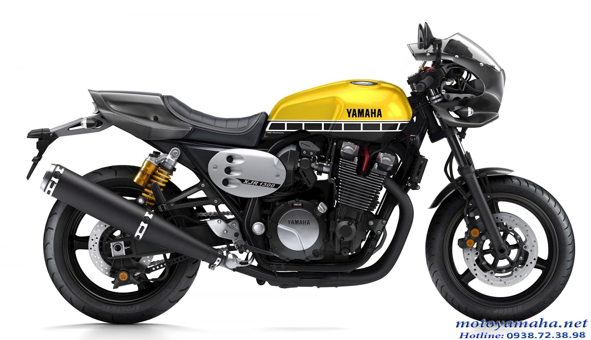Yamaha XJR1300 racer màu vàng